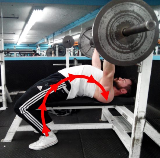 leg-drive-on-bench-press-weight-on-shoulder-blades